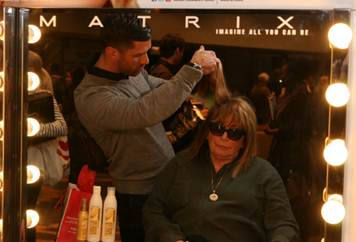 The Matrix team primped a lineup of celebrities at The Matrix Style Suite