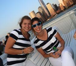 Beauty buffs mingle aboard the Zephyr Yacht for an evening of beauty