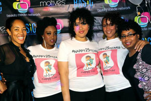 Oh! My Nappy Hair Salon celebrates 25-years in styling natural hair on BMN-TV's BE Beautiful Salon Tour on Dec. 12th. Shown above is salon owner Erica Blevins, Oh! My Nappy Hair Models and Kim Cones of BMN-TV. @PHOTO CREDIT: Anastasia Martin