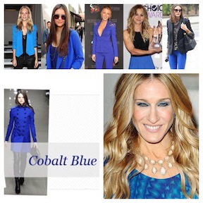 Lots of A-listers and fashionistas are already embracing cobalt blue-a preview for fall 2014