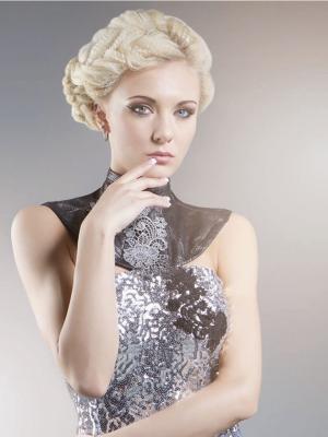 White_Blonde_Crimped_Updo_
