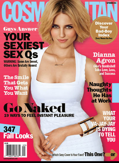 Dianna Agron`s September Cosmopolitan Covers by Celebrity Hairstylist David Babaii
