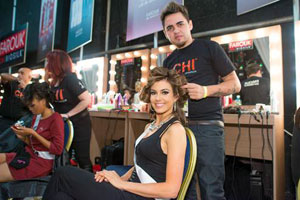 Bruno Fernandes is busy at work styling Miss USA 2013, Erin Brady.