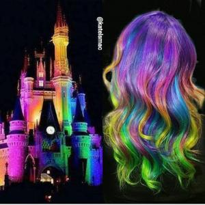 Neon_mermaid_hair_color_design_inspired_by_Disney's_Cinderella_castle_by_Kate_Macfarland_IG_@katelsmac_