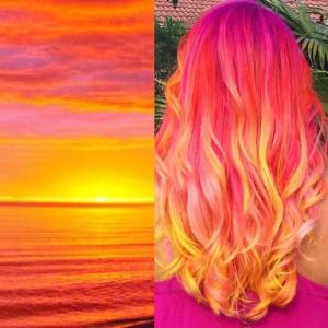 Orange,_peach_and_creamy_sherbet_hair_color_inspired_by_a_tropical_sunset_by_Melissa_Smith_IG_@sweetmelissagrace_