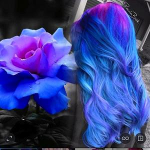 Pink,_blue_and_hints_of_lavender_hair_color_design_inspired_by_this_colorful_flower_by_Paula_Biek_IG_@paulabiek_