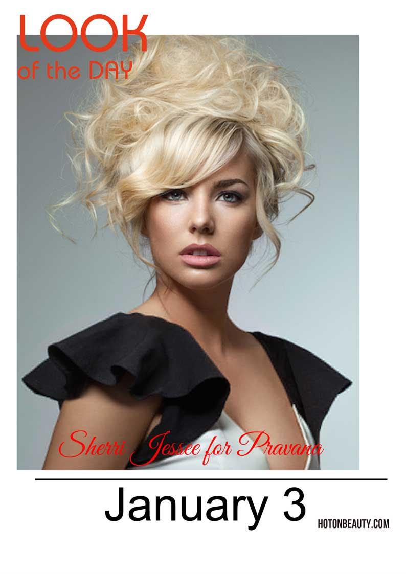 Sherri Jessee channels Brigitte Bardot for Pravana