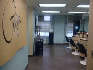 The interior of LeMetric Hair and Beauty Studio.