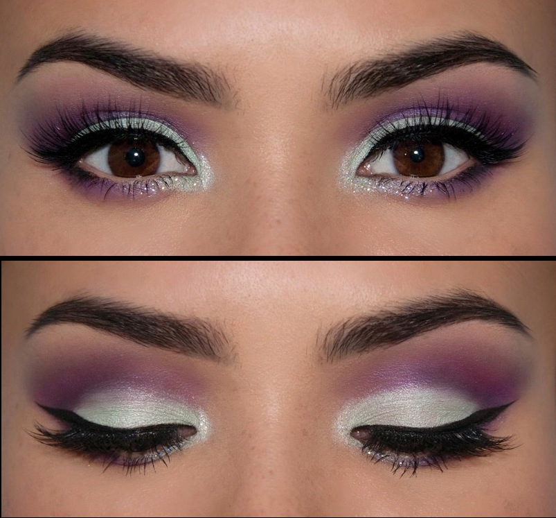 This unusual color combination lends a special, unique look to your eye makeup without being garish.