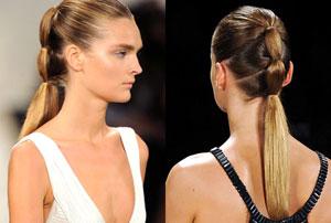 Multi-tiered ponytail