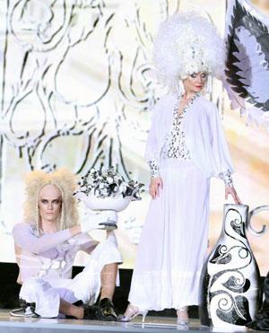 Shown: an avant-garde hair presentation by Schwarzkopf Professional, stylist Tatiana Nitchenko