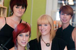 From left: Leanne, Rachel, Dana and Christine, Concrete Salon team members.