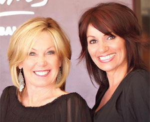 (left) Owners Gayle Fulbright and Letty Portilla