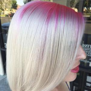 Straight_Smooth_Lobs__A_bright_pink_shadow_root_enhances_this_smooth,_straight_lob._Is_it_too_bright_for_your_clients'_tastes?_Envision_a_deeper_natural_color_in_lieu_of_the_pink._Stylist:_Brittnie_Garcia_IG_@makeupbyfrances__Tip:_A_one-length_lob_is_ideal_for_fine-haired_lovelies_as_it_creates_more_bulk_at_the_ends_and_greater_thickness_overall._