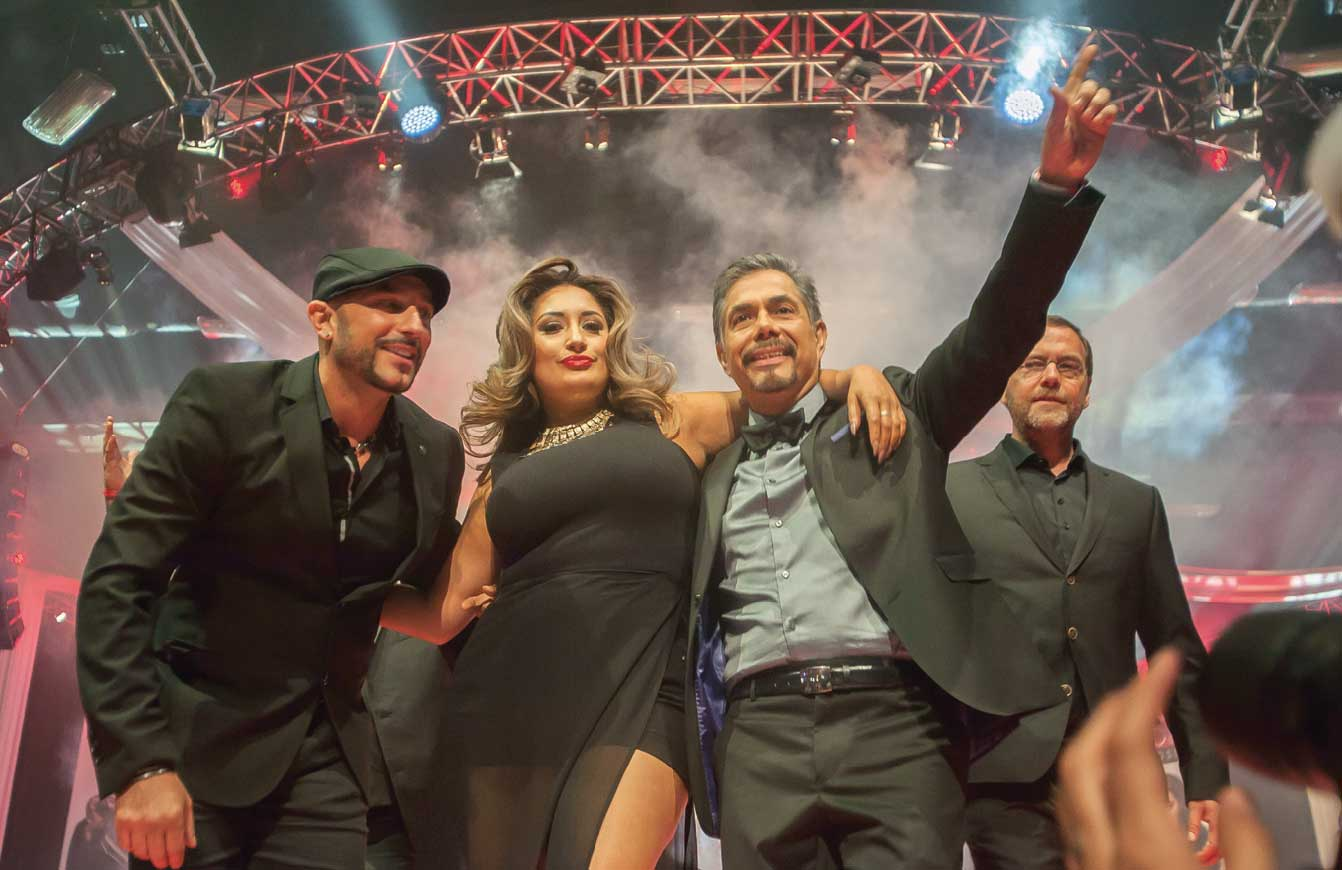 (left) Global Artistic Team Members Rocky Vitelli, Anna Cantu, Leonel Rodriguez and Maurice den Exter