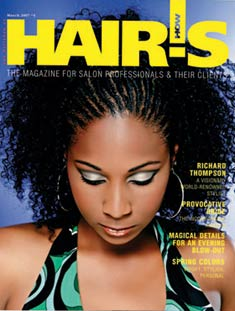 HOT by Hair's How Magazine, March 2007 issue - look inside