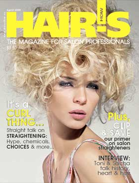 HOT by Hair's How Magazine, April 2008 issue - look inside