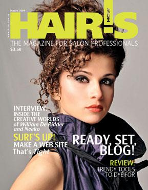 HOT by Hair's How Magazine, March 2009 issue - look inside